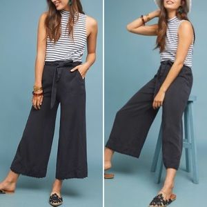 Anthro Cloth & Stone Marcel Wide Leg Crop Pant Med